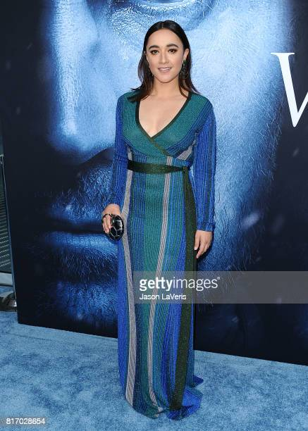 Actress Keisha CastleHughes attends the season 7 premiere of 'Game Of Thrones' at Walt Disney Concert Hall on July 12 2017 in Los Angeles California