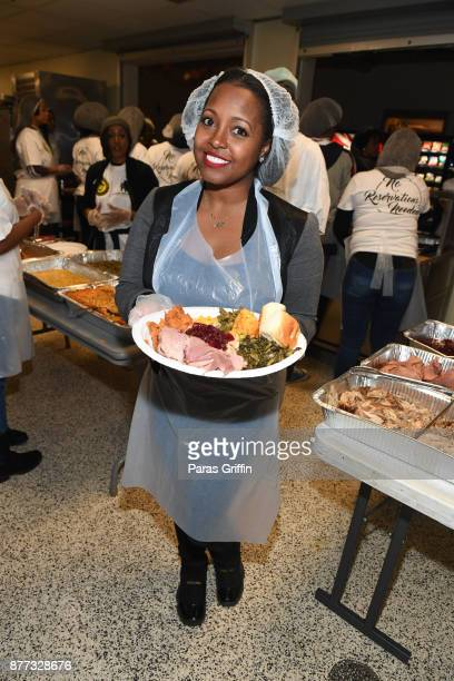 Actress Keisha Knight Pulliam attends 2017 No Reservations Needed Thanksgiving Dinner at Atlanta Mission on November 21 2017 in Atlanta Georgia