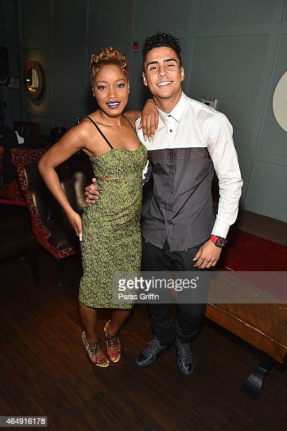Actress KeKe Palmer and actor Quincy Brown attend the advance screening of Brotherly Love at Studio Movie Grill on March 1 2015 in Charlotte North...