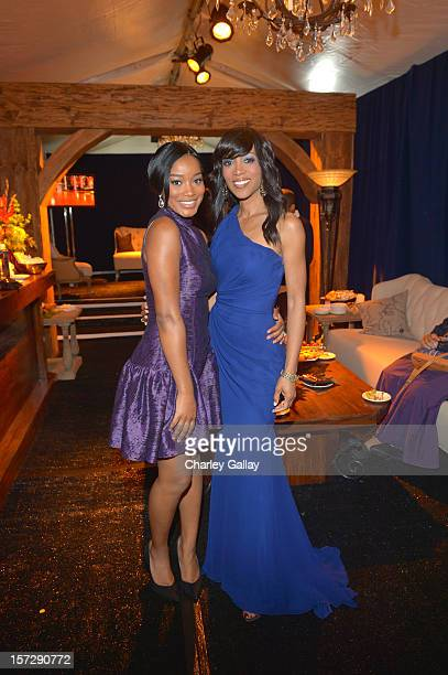 Actress Keke Palmer and TV personality Shaun Robinson attend UNCF's 34th Annual An Evening Of Stars held at Pasadena Civic Auditorium on December 1...