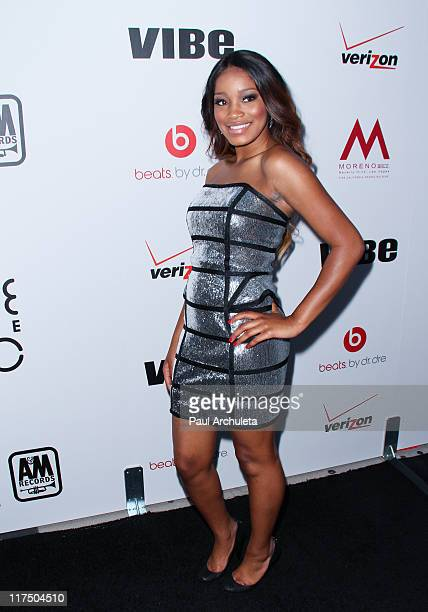 Actress Keke Palmer arrives at the Interscope Geffen AM Records' 5th annual 'Creme Of The Crop' Post BET awards dinner celebration at Mr Chow on June...
