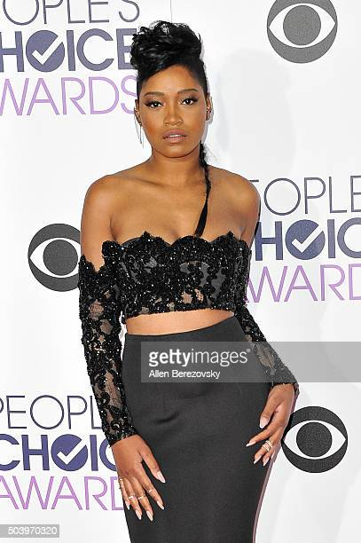 Actress Keke Palmer arrives at the People's Choice Awards 2016 at Microsoft Theater on January 6 2016 in Los Angeles California