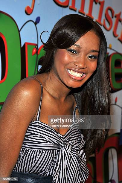 Actress Keke Palmer arrives at the premiere Of Nickelodeon's Merry Christmas Drake Josh on December 2 2008 at the Landmark Theatres Westside Pavilion...