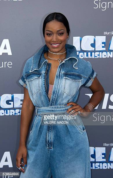 Actress Keke Palmer arrives for the 'Ice Age Collision Course' Friends and Family Screening at Fox Studios' Zanuck Theater in Los Angeles on July 16...