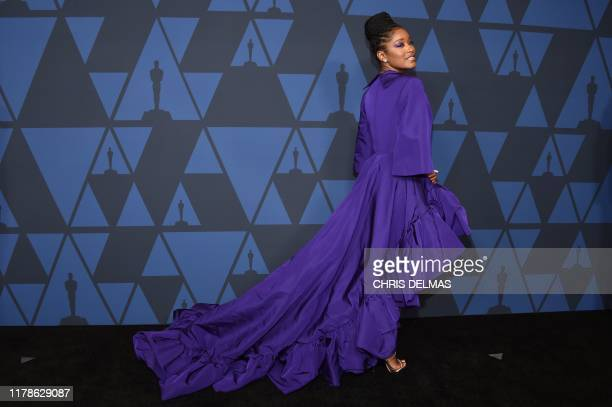 US actress Keke Palmer arrives to attend the 11th Annual Governors Awards gala hosted by the Academy of Motion Picture Arts and Sciences at the Dolby...
