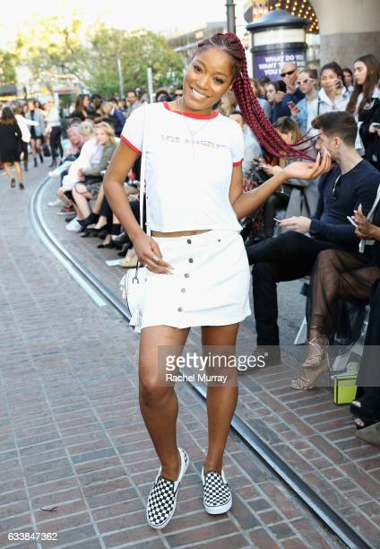 """Actress Keke Palmer attended designer Rebecca Minkoff's Spring 2017 """"See Now Buy Now"""" Fashion Show at The Grove on February 4 2017 in Los Angeles..."""
