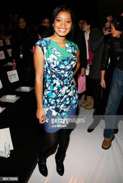 Actress Keke Palmer attends BCBG Max Azria Fall 2010 during MercedesBenz Fashion Week on February 11 2010 in New York City