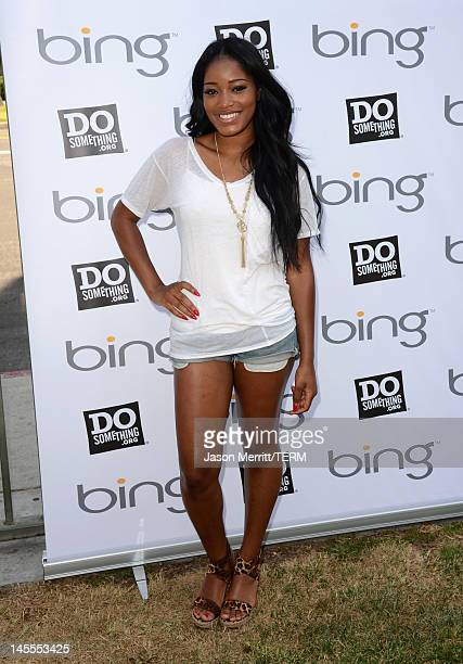 Actress Keke Palmer attends Bing Summer of Doing Kickoff hosted by Bing and DoSomethingorg at HOLA at Heart of Los Angeles on June 1 2012 in Los...