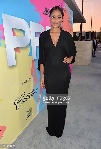 Actress Keke Palmer attends Debra Lee's PreBET Awards Celebration Dinner at Milk Studios on June 29 2013 in Los Angeles California