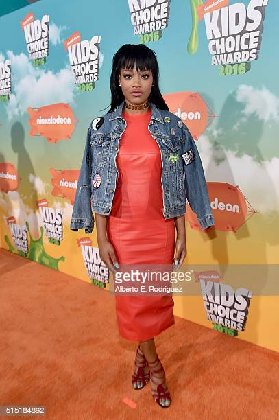 Actress Keke Palmer attends Nickelodeon's 2016 Kids' Choice Awards at The Forum on March 12 2016 in Inglewood California