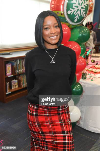 Actress KeKe Palmer attends Radio One Hot 1079 and Saving Our Daughters annual Bratz Doll Drive and Giveaway at Barack H Obama Elementary Magnet...