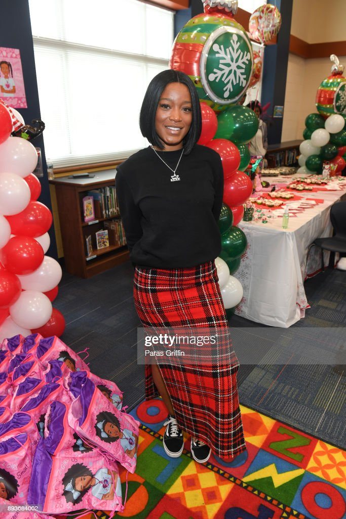 Actress KeKe Palmer attends Radio One, Hot 107.9, and Saving Our Daughters annual Bratz Doll Drive and Giveaway at Barack H. Obama Elementary Magnet School of Technology on December 15, 2017 in Atlanta, Georgia.