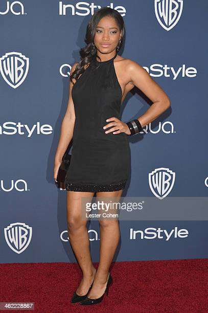 Actress Keke Palmer attends the 2014 InStyle And Warner Bros 71st Annual Golden Globe Awards PostParty held at The Beverly Hilton Hotel on January 12...