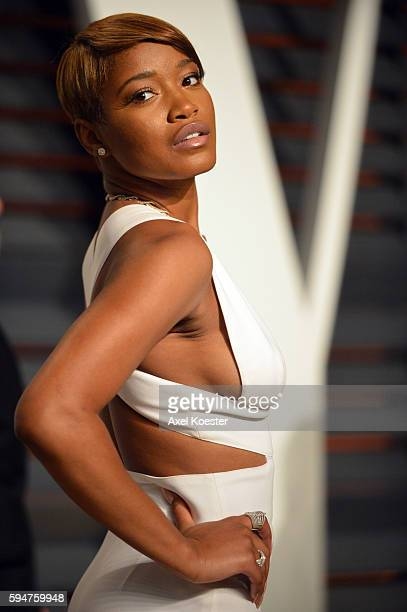 Actress Keke Palmer attends the 2015 Vanity Fair Oscar Party hosted by Graydon Carter at the Wallis Annenberg Center for the Performing Arts on...