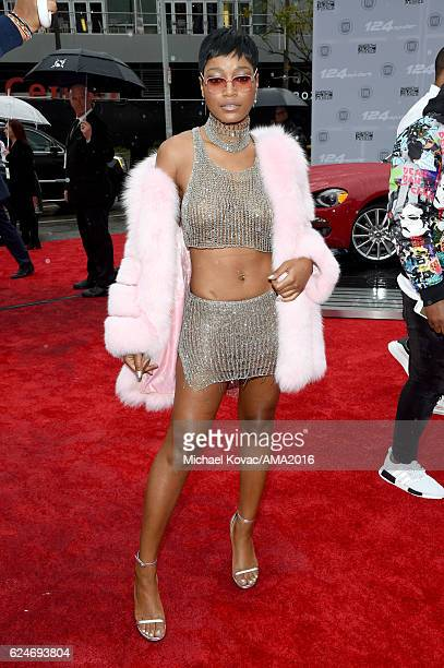 Actress Keke Palmer attends the 2016 American Music Awards Red Carpet Arrivals sponsored by FIAT 124 Spider at Microsoft Theater on November 20 2016...