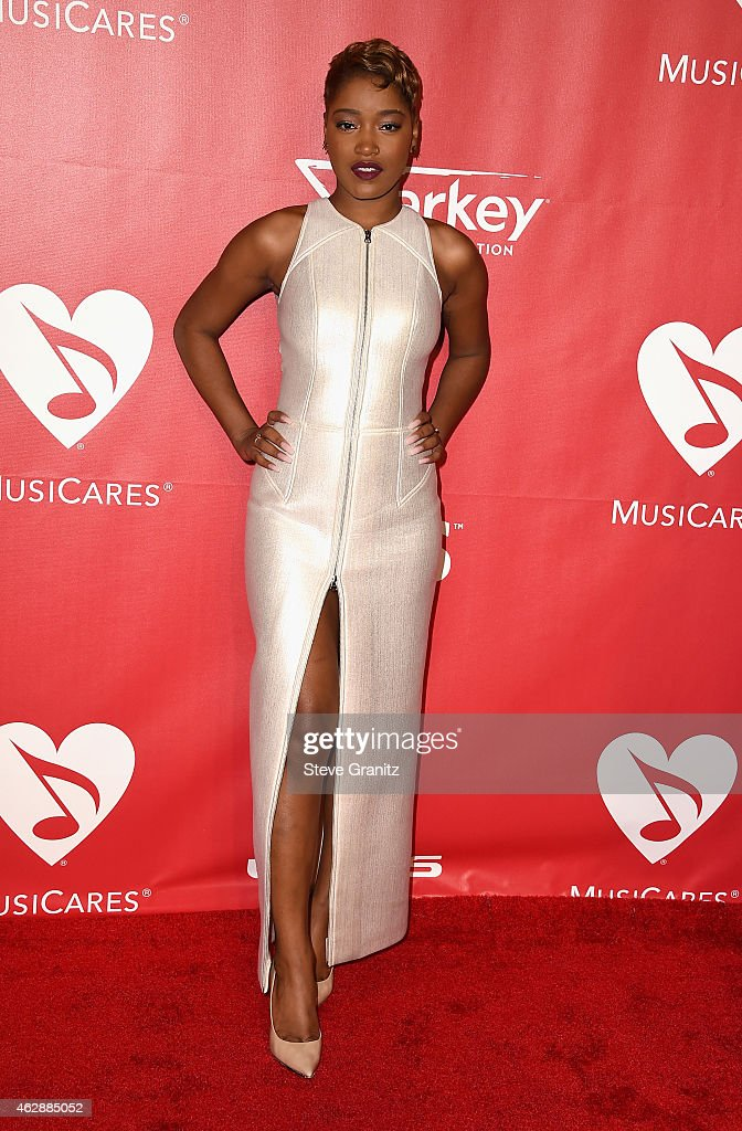 Actress Keke Palmer attends the 25th anniversary MusiCares 2015 Person Of The Year Gala honoring Bob Dylan at the Los Angeles Convention Center on February 6, 2015 in Los Angeles, California. The annual benefit raises critical funds for MusiCares' Emergency Financial Assistance and Addiction Recovery programs. For more information visit musicares.org.