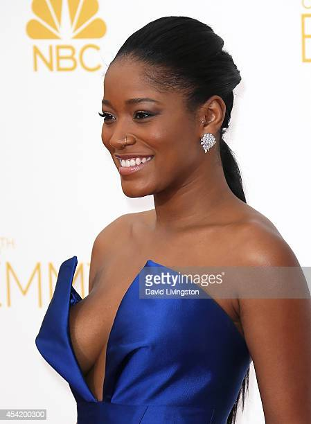 Actress Keke Palmer attends the 66th Annual Primetime Emmy Awards at the Nokia Theatre LA Live on August 25 2014 in Los Angeles California