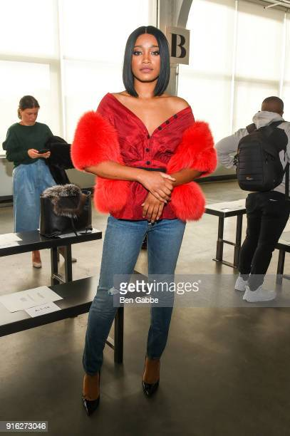 Actress Keke Palmer attends the Hellessy fashion Show during New York Fashion Week at Pier 59 on February 9 2018 in New York City