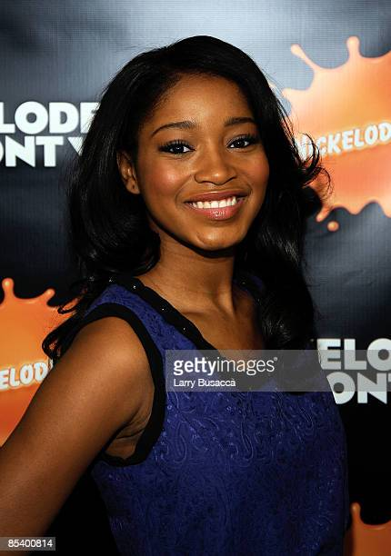 Actress Keke Palmer attends the Nickelodeon Upfront Presentation at the Hammerstein Ballroom on March 12 2009 in New York City