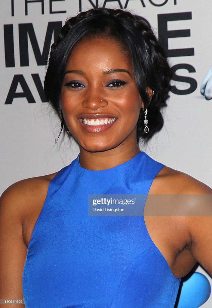 Actress Keke Palmer attends the press room at the 44th NAACP Image Awards at the Shrine Auditorium on February 1, 2013 in Los Angeles, California.