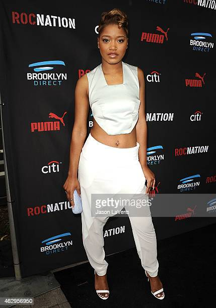 Actress Keke Palmer attends the Roc Nation Grammy brunch on February 7 2015 in Beverly Hills California