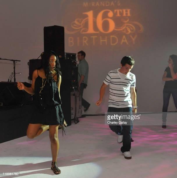 Actress Keke Palmer dances at Miranda Cosgrove's Sweet 16 Party at Siren on May 16, 2009 in Los Angeles, California.