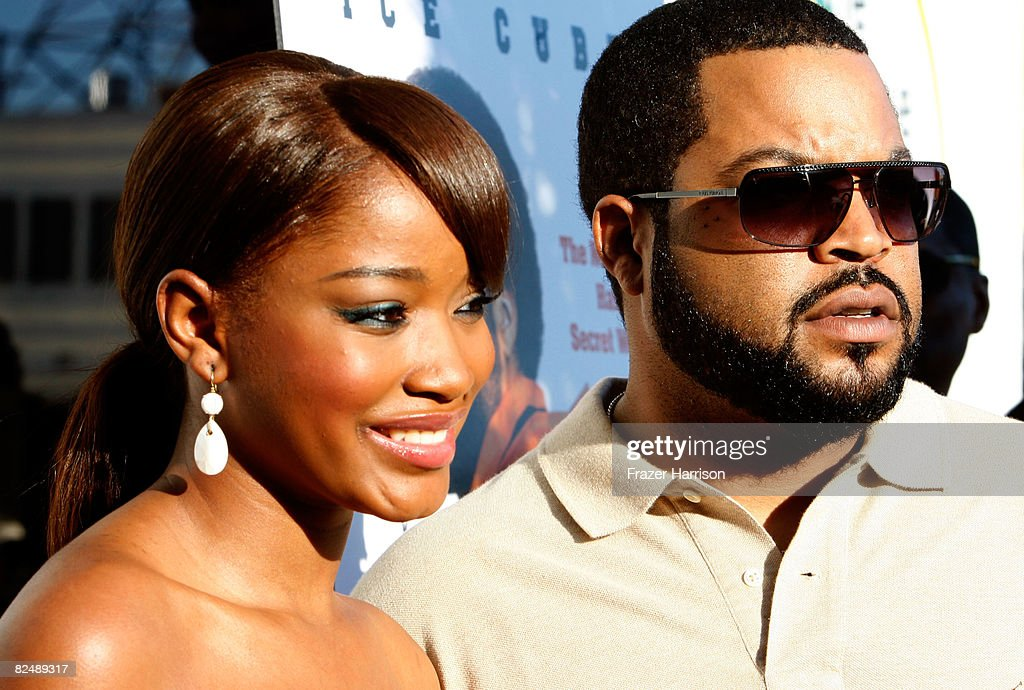 Actress Keke Palmer, Ice Cube arrive at the premiere of the Weinstein Company's ''The Longshots'' at the Majestic Crest Theatre on August 20, 2008 in Westwood, California.