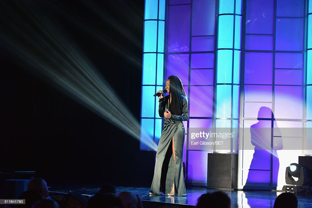Actress Keke Palmer performs onstage during the 2016 ABFF Awards: A Celebration Of Hollywood at The Beverly Hilton Hotel on February 21, 2016 in Beverly Hills, California.