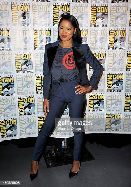 691cb3a1a7 Actress Keke Palmer poses at the American Horror Story and Scream Queens  panel during ComicCon International
