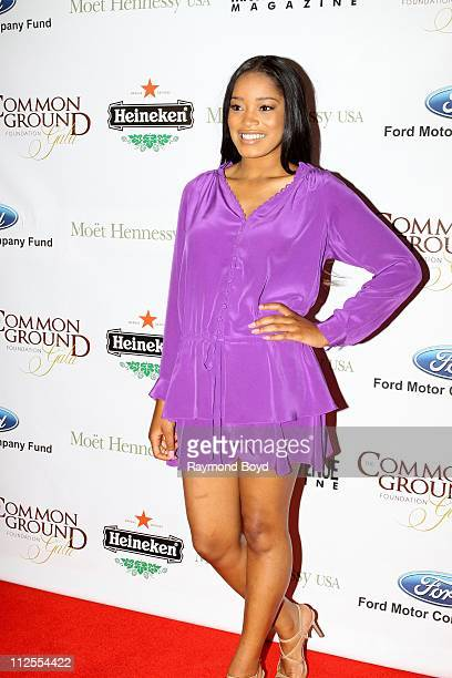 Actress Keke Palmer poses for photos during the 1st Annual Common Ground Foundation Gala at Hotel InterContinental in Chicago Illinois on APR 16 2011