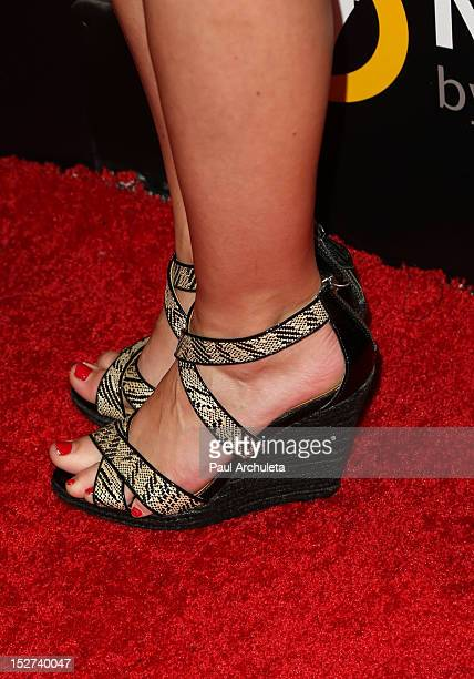 Actress Kelcie Stranahan attends the Cybergeddon premiere at the Pacific Design Center on September 24 2012 in West Hollywood California