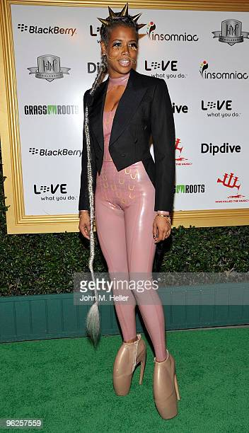 Actress Kelis attends the 1st Annual Data Awards presented by wiliam the Black Eyed Peas and Dipdive at the Palladium on January 28 2010 in Los...