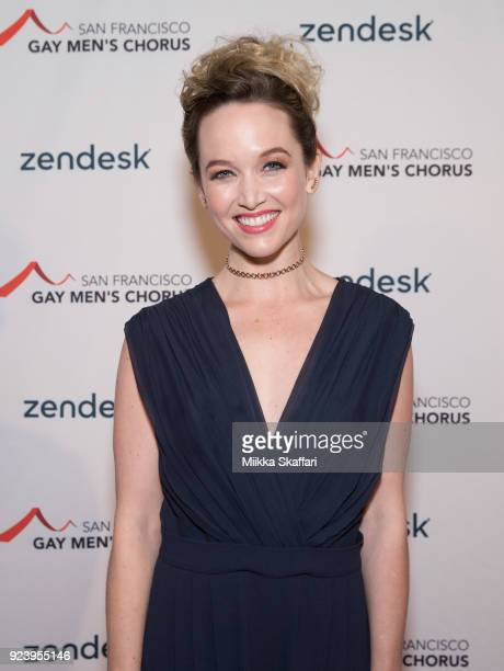 Actress Kelley Jakle arrives at The San Francisco Gay Men's Chorus' 40th Season Crescendo Gala Fundraiser at The Fairmont San Francisco on February...
