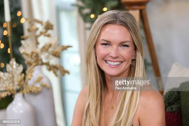 Actress Kelley Limp visits Hallmark's Home Family at Universal Studios Hollywood on July 9 2018 in Universal City California