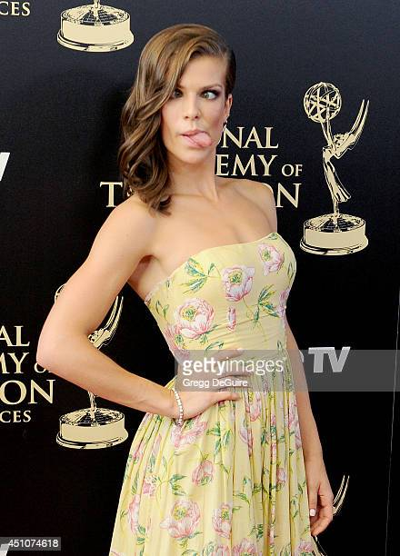 Actress Kelley Missal arrives at the 41st Annual Daytime Emmy Awards at The Beverly Hilton Hotel on June 22 2014 in Beverly Hills California
