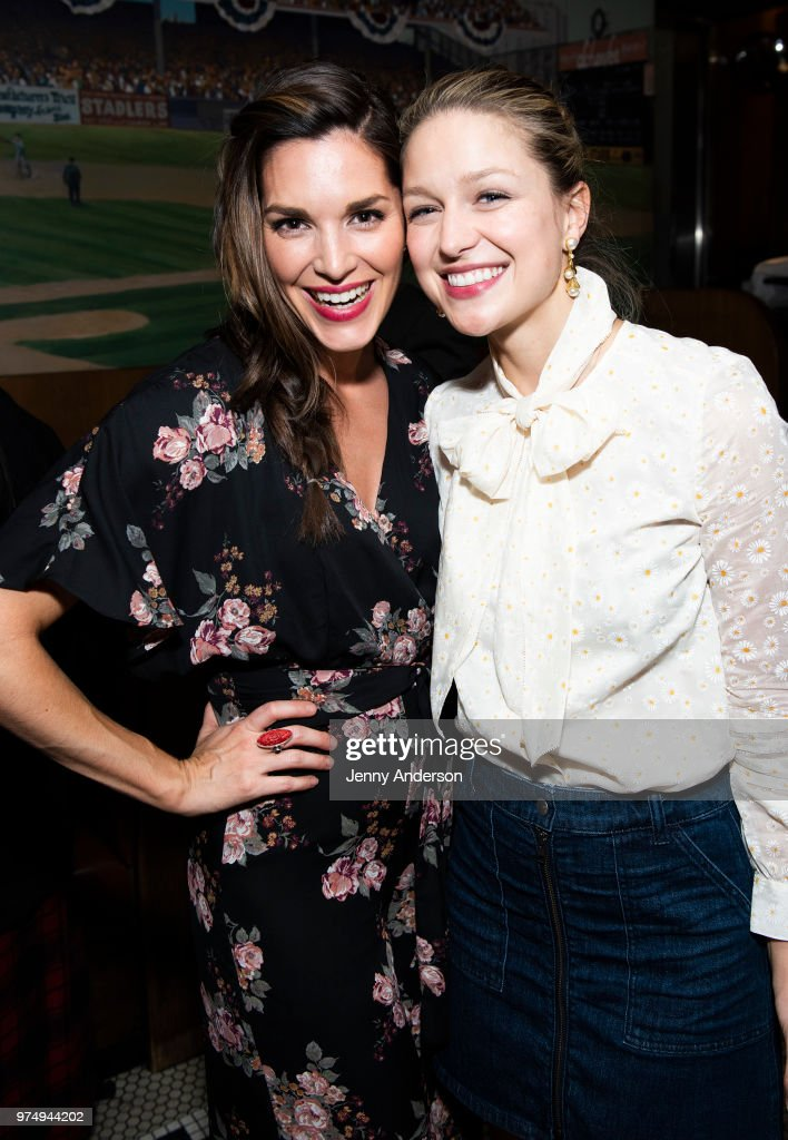 Actress Kelli Barrett and Melissa Benoist attend Melissa Benoist's opening night on Broadway in 'Beautiful - The Carole King Musical' June 12, 2018 in New York City.