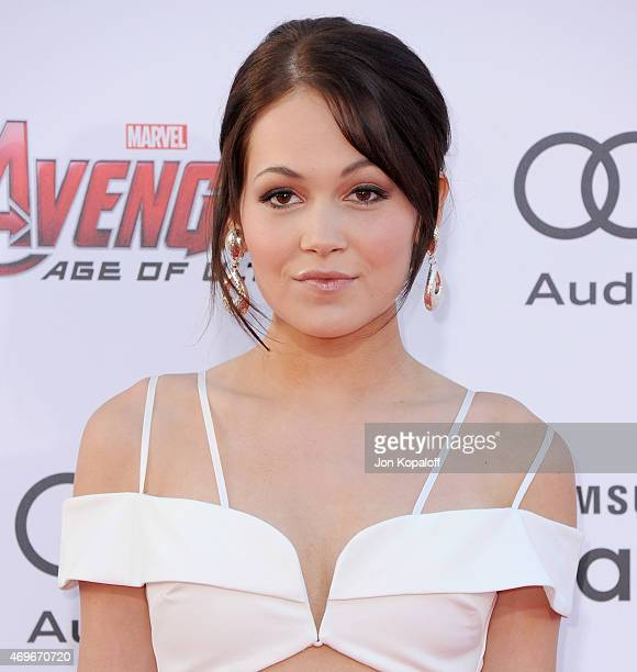 Actress Kelli Berglund arrives at the Los Angeles Premiere Marvel's Avengers Age Of Ultron at Dolby Theatre on April 13 2015 in Hollywood California