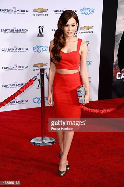 Actress Kelli Berglund arrives at the premiere Of Marvel's Captain AmericaThe Winter Soldier at the El Capitan Theatre on March 13 2014 in Hollywood...