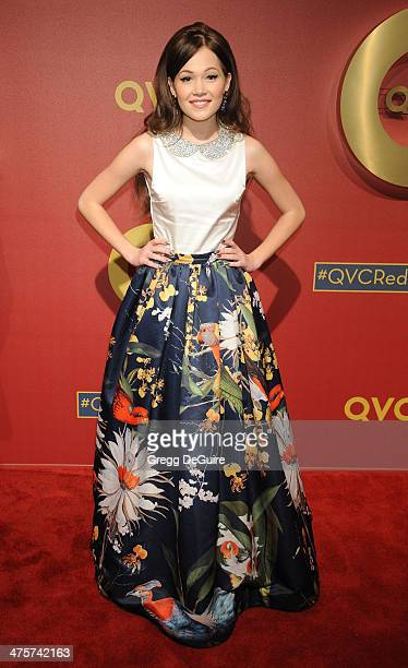 Actress Kelli Berglund arrives at the QVC 5th Annual Red Carpet Style event at The Four Seasons Hotel on February 28 2014 in Beverly Hills California