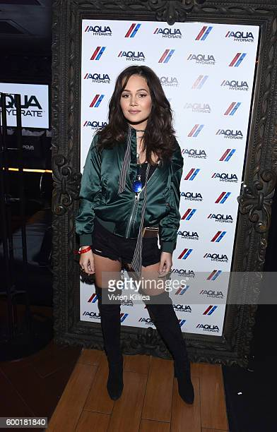 Actress Kelli Berglund attends a private event at Hyde Staples Center hosted by AQUAhydrate for the Drake and Future concert on September 7 2016 in...