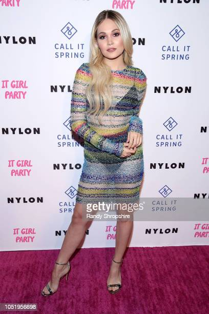 Actress Kelli Berglund attends NYLON's annual It Girl Party sponsored by Call It Spring at Ace Hotel on October 11 2018 in Los Angeles California