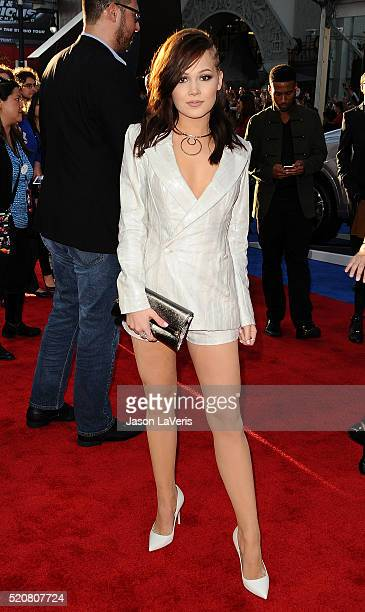 Actress Kelli Berglund attends the premiere of Captain America Civil War at Dolby Theatre on April 12 2016 in Hollywood California