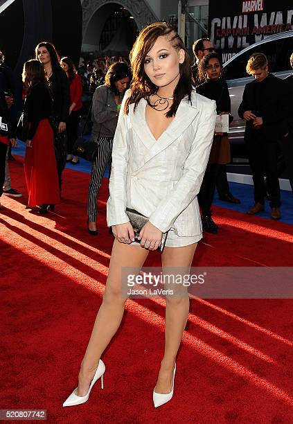 Actress Kelli Berglund attends the premiere of 'Captain America Civil War' at Dolby Theatre on April 12 2016 in Hollywood California