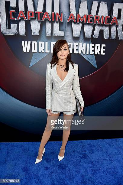 Actress Kelli Berglund attends the premiere of Marvel's 'Captain America Civil War' at Dolby Theatre on April 12 2016 in Los Angeles California