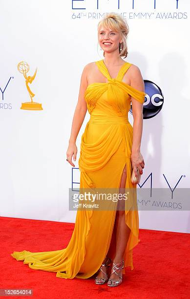 Actress Kelli Garner arrives at the 64th Primetime Emmy Awards at Nokia Theatre LA Live on September 23 2012 in Los Angeles California
