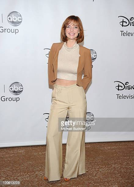 Actress Kelli Garner arrives at the Disney ABC Television Group's 'TCA 2001 Summer Press Tour' at the Beverly Hilton Hotel on August 7 2011 in...