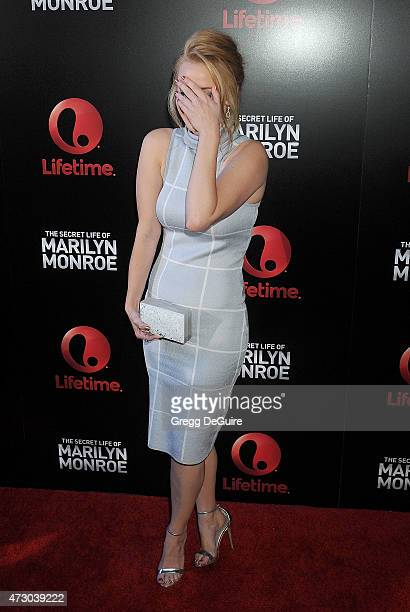Actress Kelli Garner arrives at the screening of Lifetime's Miniseries 'The Secret Life Of Marilyn Monroe' at The Theatre At The Ace Hotel on May 11...