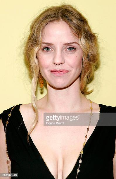 """Actress Kelli Garner poses before attending the after-party for """"The Seagull"""" at Pangea on March 13, 2008 in New York City."""