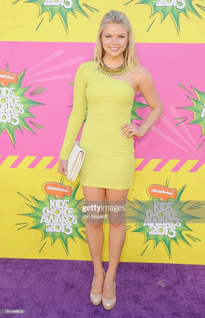 Actress Kelli Goss arrives at Nickelodeon's 26th Annual Kids' Choice Awards at USC Galen Center on March 23, 2013 in Los Angeles, California.