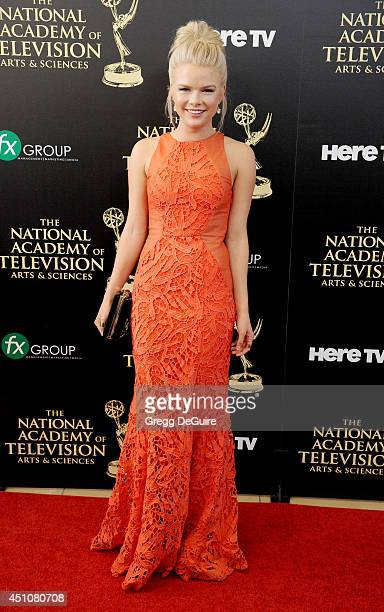 Actress Kelli Goss arrives at the 41st Annual Daytime Emmy Awards at The Beverly Hilton Hotel on June 22 2014 in Beverly Hills California